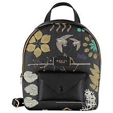 Buy Radley Herbarium Medium Leather Backpack, Black Online at johnlewis.com