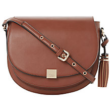 Buy Dune Daddle Curb Chain Detail Saddle Bag Online at johnlewis.com