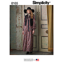 Buy Simplicity Misses' Women's Dress Sewing Pattern, 8165 Online at johnlewis.com