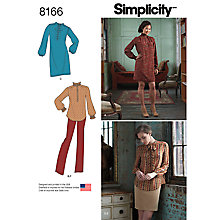 Buy Simplicity Misses' Women's Dress Sewing Pattern, 8166 Online at johnlewis.com