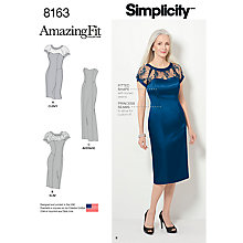 Buy Simplicity Amazing Fit Women's Dress Sewing Pattern, 8163 Online at johnlewis.com
