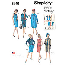 Buy Simplicity Women's Vintage Dress Sewing Pattern, 8246 Online at johnlewis.com
