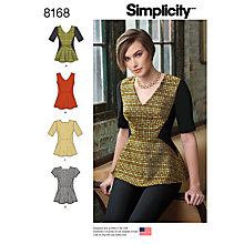 Buy Simplicity Misses' Women's Top Sewing Pattern, 8165 Online at johnlewis.com