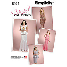 Buy Simplicity Misses' Women's Dress Sewing Pattern, 8164 Online at johnlewis.com