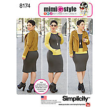Buy Simplicity Mimi G Style Women's Jacket and Knit Dress Sewing Pattern, 8174 Online at johnlewis.com