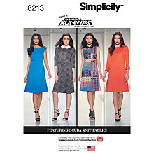 Buy Simplicity Women's Dresses Sewing Pattern, 8213 Online at johnlewis.com