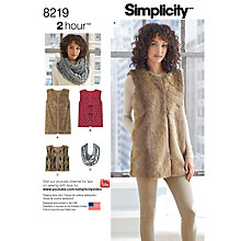 Buy Simplicity Women's Vest Top Sewing Pattern, 8219 Online at johnlewis.com