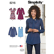Buy Simplicity Women's Dress and Tunic Sewing Pattern, 8216 Online at johnlewis.com