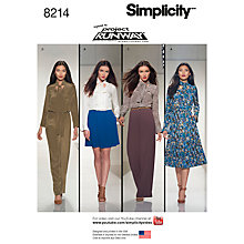 Buy Simplicity Women's Dresses Sewing Pattern, 8214 Online at johnlewis.com