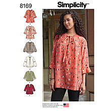 Buy Simplicity Misses' Women's Top Sewing Pattern, 8169 Online at johnlewis.com