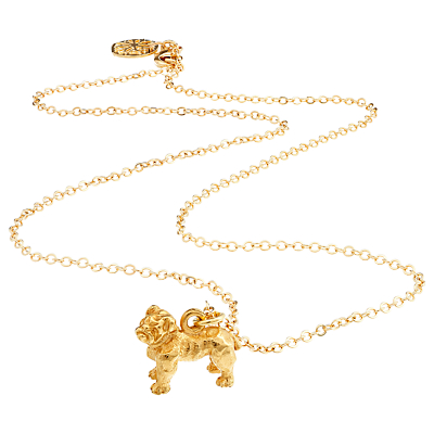 Mirabelle Boxer Dog Pendant Chain Necklace, Gold