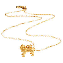 Buy Mirabelle Boxer Dog Pendant Chain Necklace, Gold Online at johnlewis.com