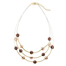 Buy John Lewis Illusion Discs Layered Necklace, Rose Gold/Chocolate Online at johnlewis.com