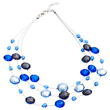 Buy Martick Floating Murano Glass Lentil Wire Layered Necklace Online at johnlewis.com