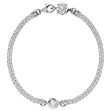 Buy Dower & Hall Sterling Silver Topaz Dewdrop Chain Bracelet, Silver/Clear Online at johnlewis.com