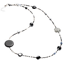 Buy Martick Galaxy Murano Glass and Crystal Long Necklace, Charcoal/Silver Online at johnlewis.com