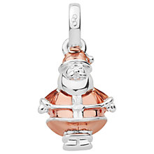 Buy Links of London Sterling Silver Santa Claus Charm, Rose Gold/Silver Online at johnlewis.com