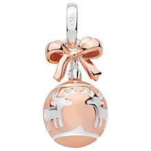 Buy Links of London Sterling Silver Xmas Bauble Charm, Rose Gold/Silver Online at johnlewis.com