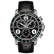 Buy Tissot T1064171605700 Men's V8 Chronograph Date Leather Strap Watch, Black Online at johnlewis.com