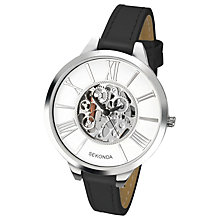 Buy Sekonda Women's Skeleton Faux Leather Strap Watch Online at johnlewis.com