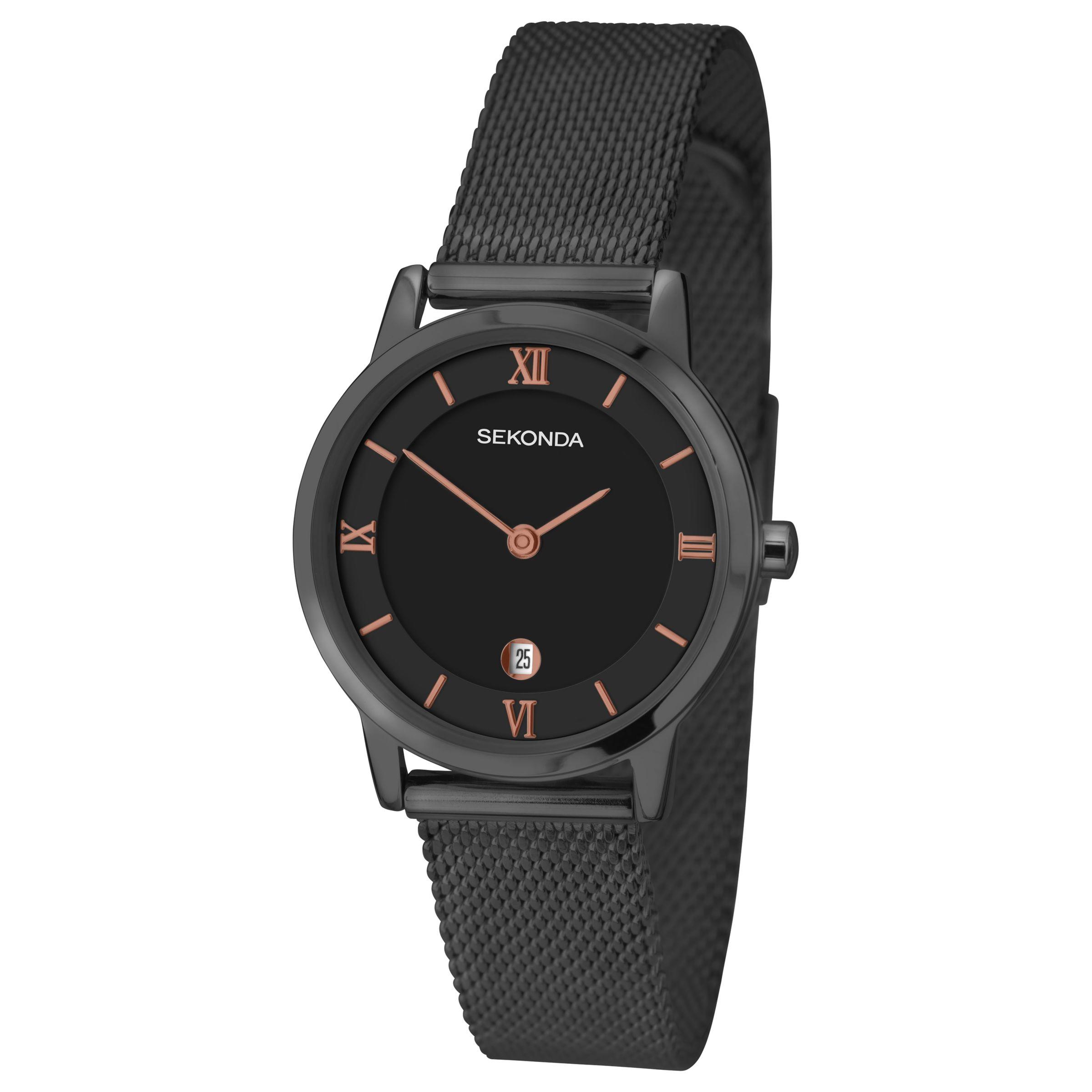 Sekonda Sekonda 2244.00 Women's Date Bracelet Strap Watch, Gunmetal