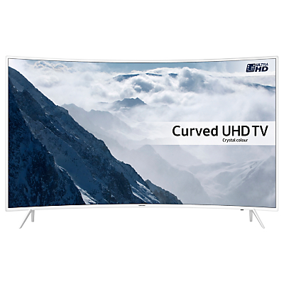 "Samsung UE43KU6510 Curved HDR 4K Ultra HD Smart TV, 43"" with Freeview HD/Freesat HD, Playstation Now & Active Crystal Colour, White"