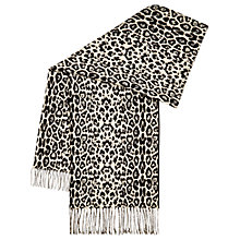 Buy Hobbs Kiki Animal Scarf, Black/White Online at johnlewis.com