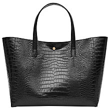 Buy Reiss Louie Tote Bag, Black Online at johnlewis.com