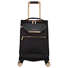 Buy Ted Baker Soft Albany 56cm 4-Wheel Cabin Case, Black Online at johnlewis.com