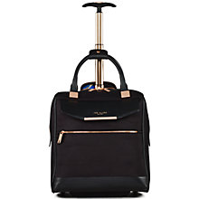 Buy Ted Baker Albany 2-Wheel Business Bag, Black Online at johnlewis.com