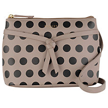 Buy Radley Rochester Small Zip-Top Leather Across Body Bag, Woodland Online at johnlewis.com