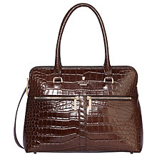 Buy Modalu Pippa Small Leather Grab Bag, Oyster Croc Online at johnlewis.com