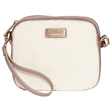 Buy Modalu Freya Faux Sherling Leather Across Body Bag, Metallic Online at johnlewis.com
