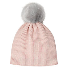 Buy Jigsaw Girls' Faux Fur Pom Hat, One Size Online at johnlewis.com