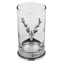 Buy English Pewter Company Stag Highball Spirit Glass Online at johnlewis.com