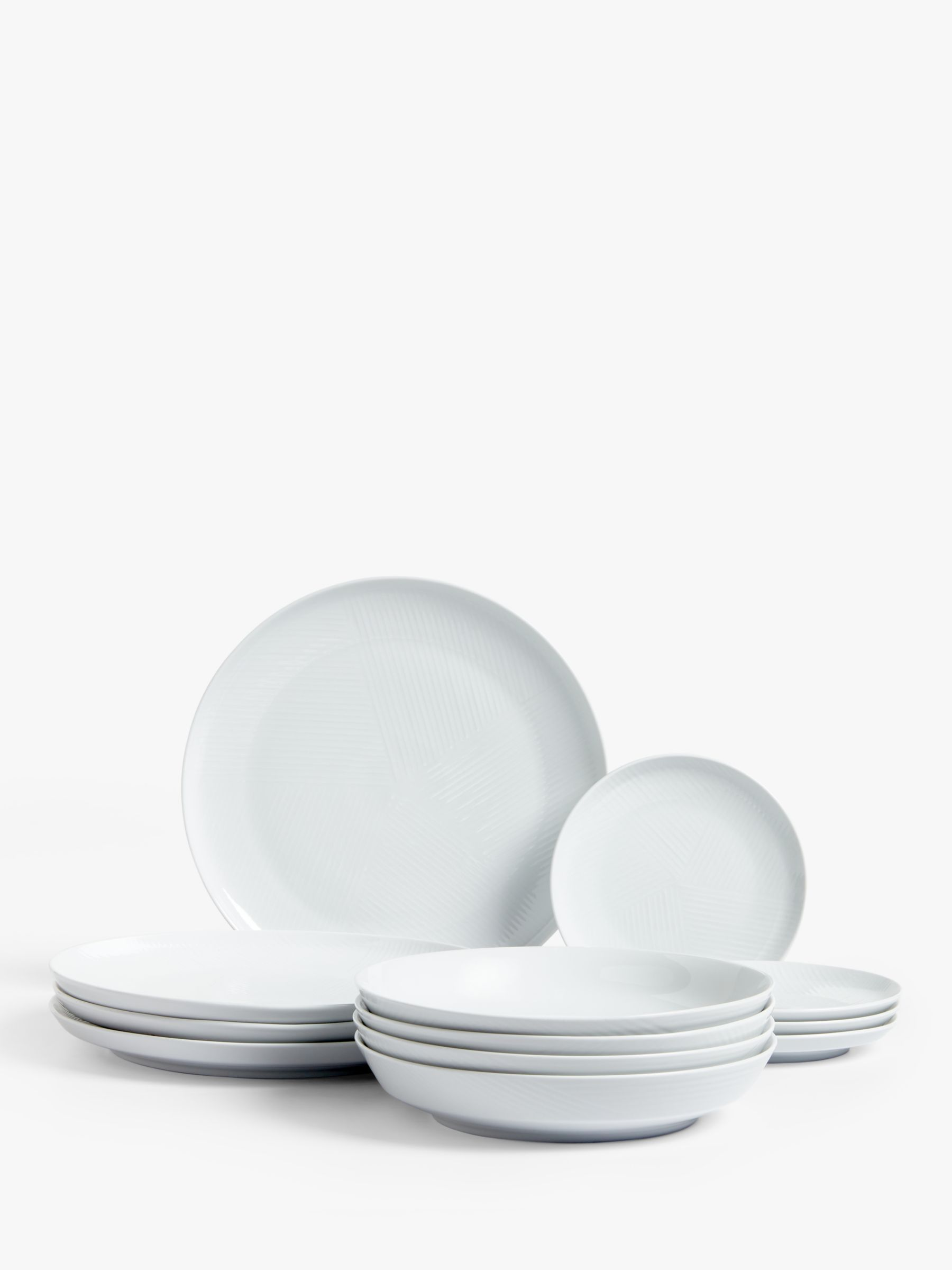 Design Project by John Lewis Design Project by John Lewis No.098 Couped Dinner Set, 12 Pieces, White