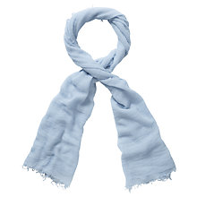 Buy Pure Collection Alicia Ultra Fine Cashmere Scarf, Iced Chambray Online at johnlewis.com