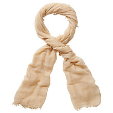 Buy Pure Collection Shelby Ultra Fine Cashmere Scarf, Camel Online at johnlewis.com