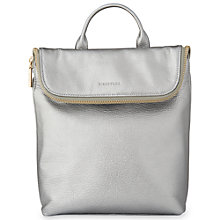 Buy Whistles Mini Verity Leather Backpack, Pewter Online at johnlewis.com