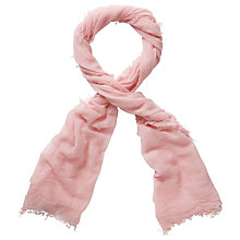 Buy Pure Collection Elissa Ultra Fine Cashmere Scarf, Soft Pink Online at johnlewis.com