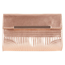 Buy Coast Talle Metallic Bag, Rose Gold Online at johnlewis.com