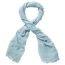 Buy Pure Collection Cavendish Ultra Fine Cashmere Scarf, Soft Duck Egg Online at johnlewis.com