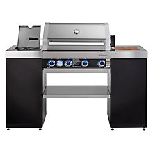 Buy John Lewis Grillstream Island Gas BBQ, Silver / Black Online at johnlewis.com