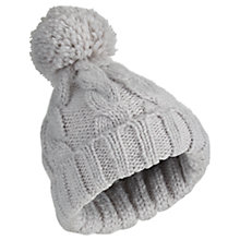 Buy Miss Selfridge Knitted Pom Beanie Hat, Grey Online at johnlewis.com