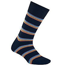 Buy Paul Smith Multi-Stripe Block Socks, One Size, Navy Online at johnlewis.com