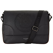 Buy Ted Baker Bigboss Embossed Dispatch Bag, Black Online at johnlewis.com