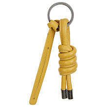 Buy Jaeger Chunky Knot Leather Keyring Online at johnlewis.com