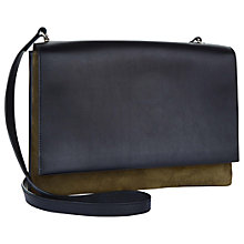 Buy Jaeger Parker Leather Across Body Bag, Olive Online at johnlewis.com