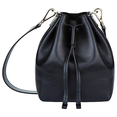 Buy Jaeger Oxford Mini Leather Across Body Bag, Black Online at johnlewis.com
