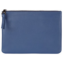 Buy Jaeger Cooper Large Leather Clutch, Navy Online at johnlewis.com